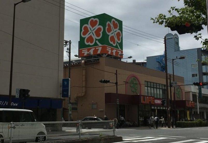 都島食ぱん(旧一本堂)の目印、高倉町1南の交差点