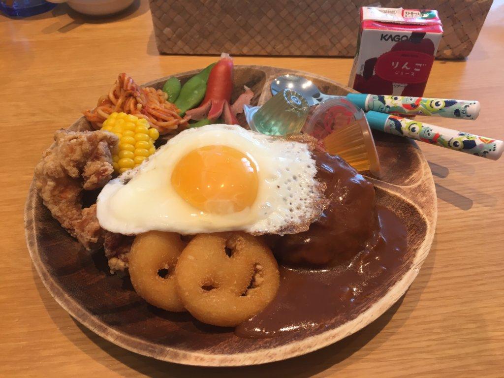 サーフサイドキッチンのキッズプレート820円
