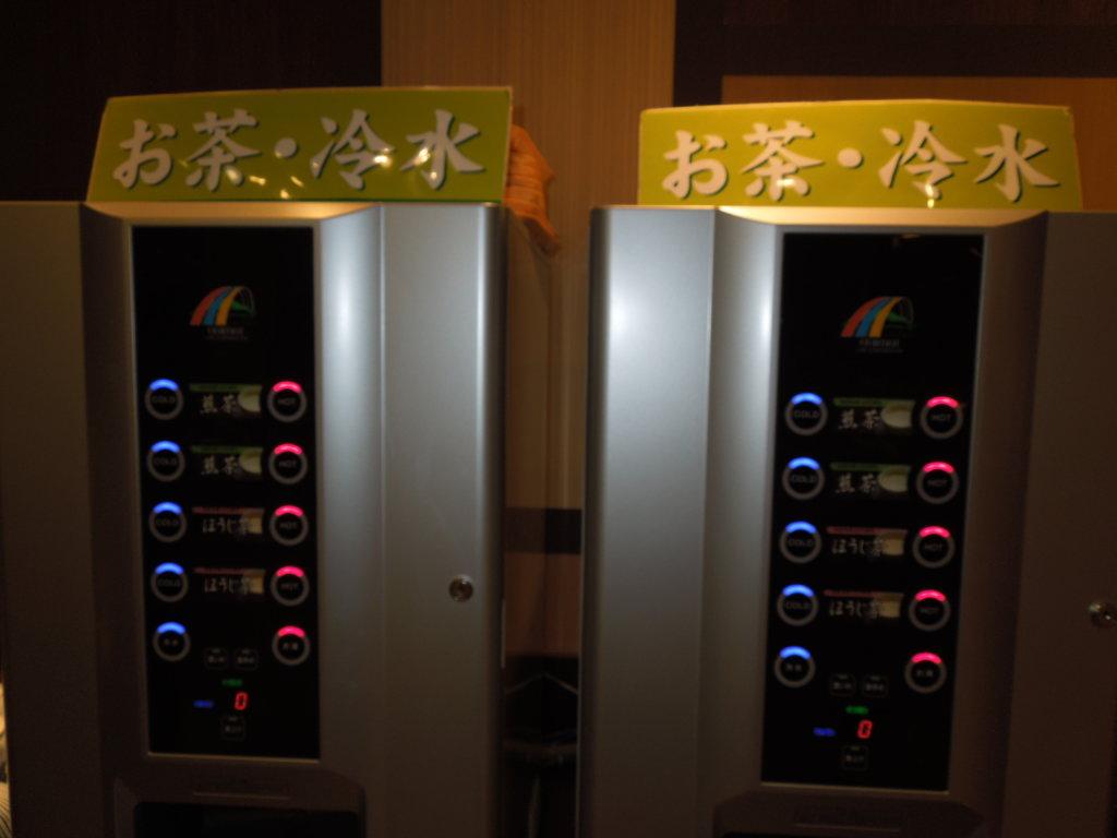 大江戸温泉物語 箕面観光ホテルのディナーバイキング飲み放題お茶・冷水