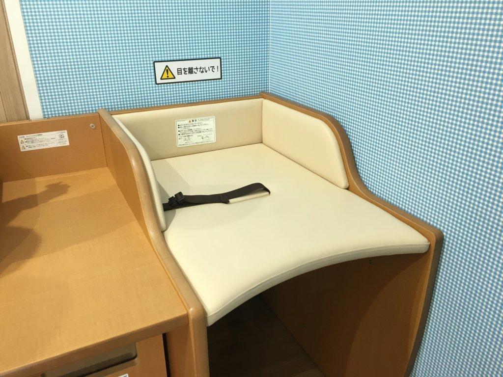 大阪南港ATCベビールームのおむつ替えスペース