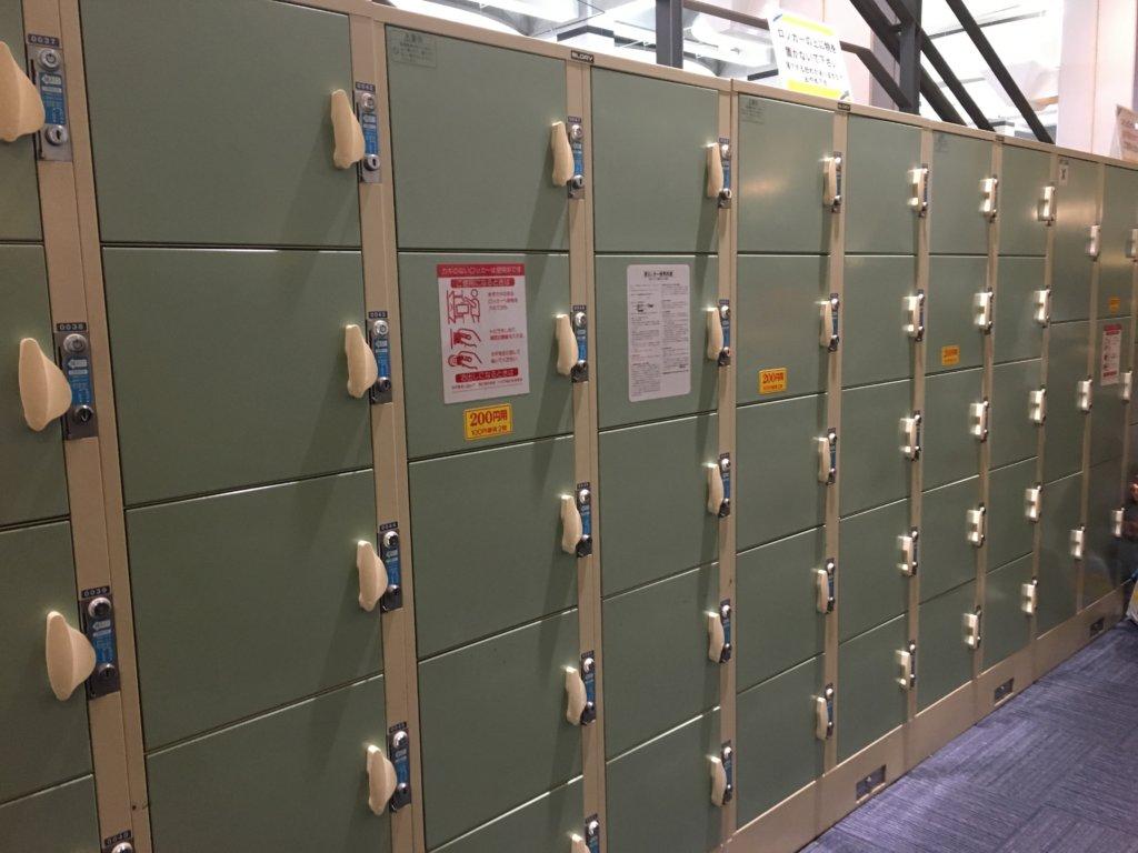 プラレール博in大阪2019のコインロッカー