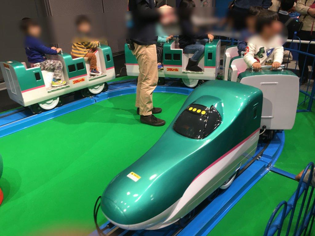 プラレール博in大阪2019の乗れるはやぶさ