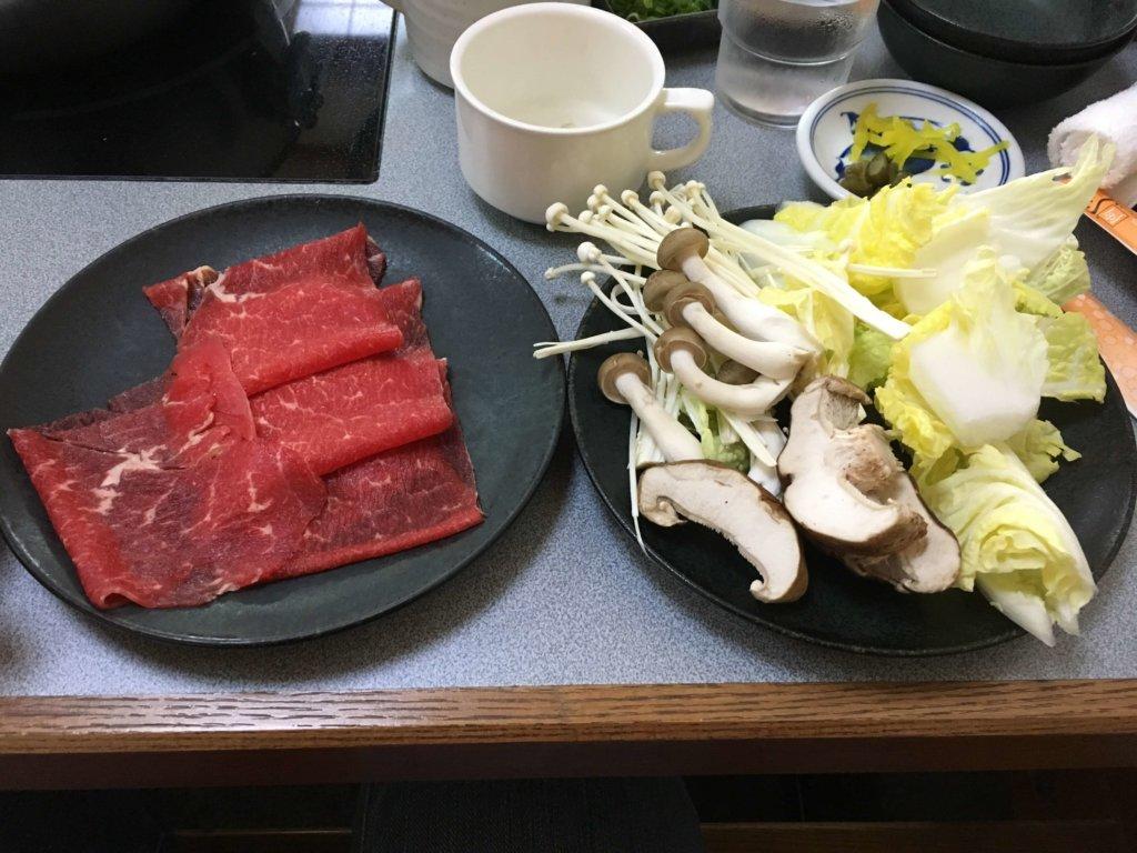 しゃぶ扇南港ATC店の旨味牛定食1280円