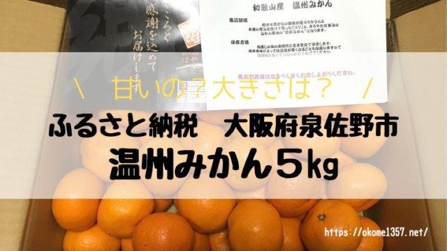 ふるさと納税泉佐野市温州みかんアイキャッチ