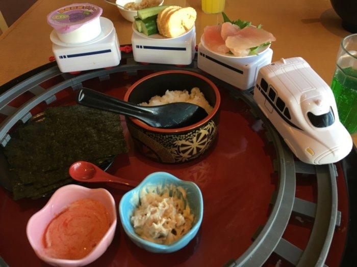 湯快のゆ門真店のご飯メニューお子さまランチの手巻き寿司