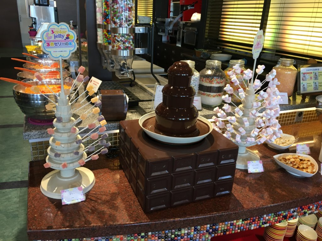 ホテルユニバーサルポート リコリコのチョコフォンデュ