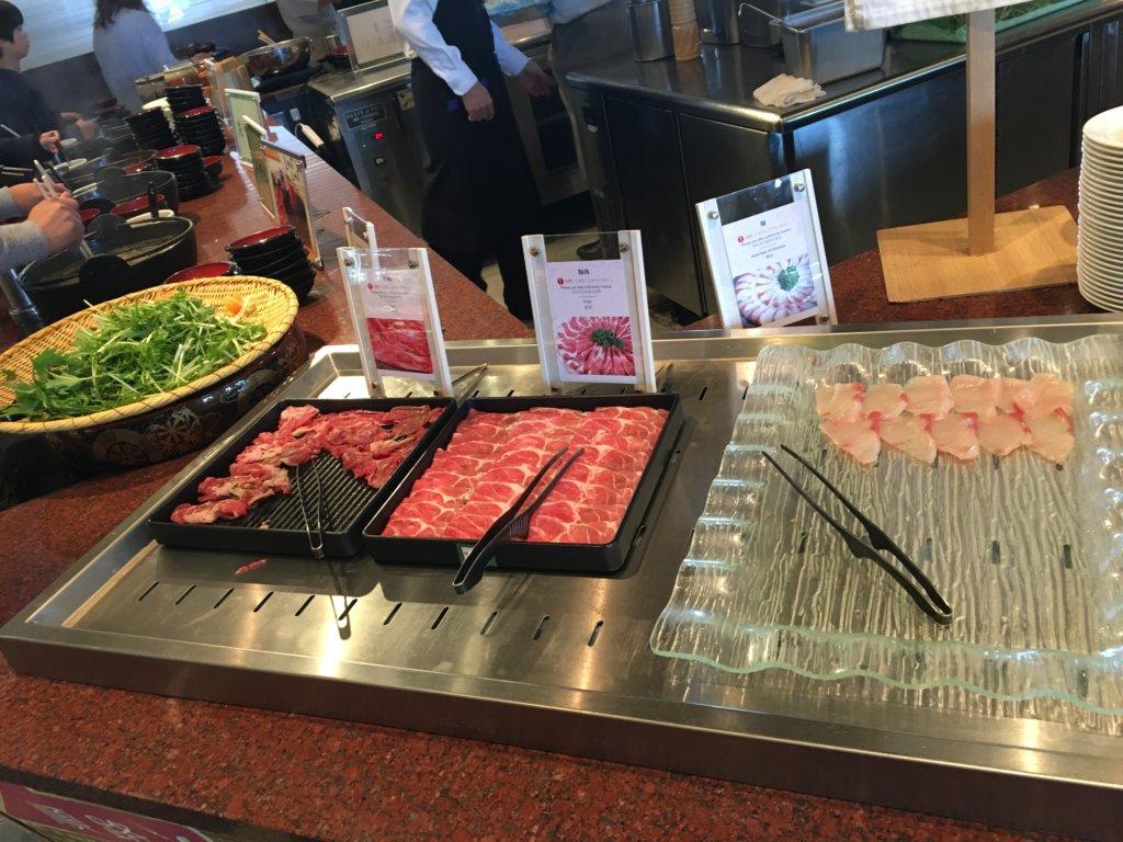 ホテルユニバーサルポート リコリコのしゃぶしゃぶ用お肉、ぶり