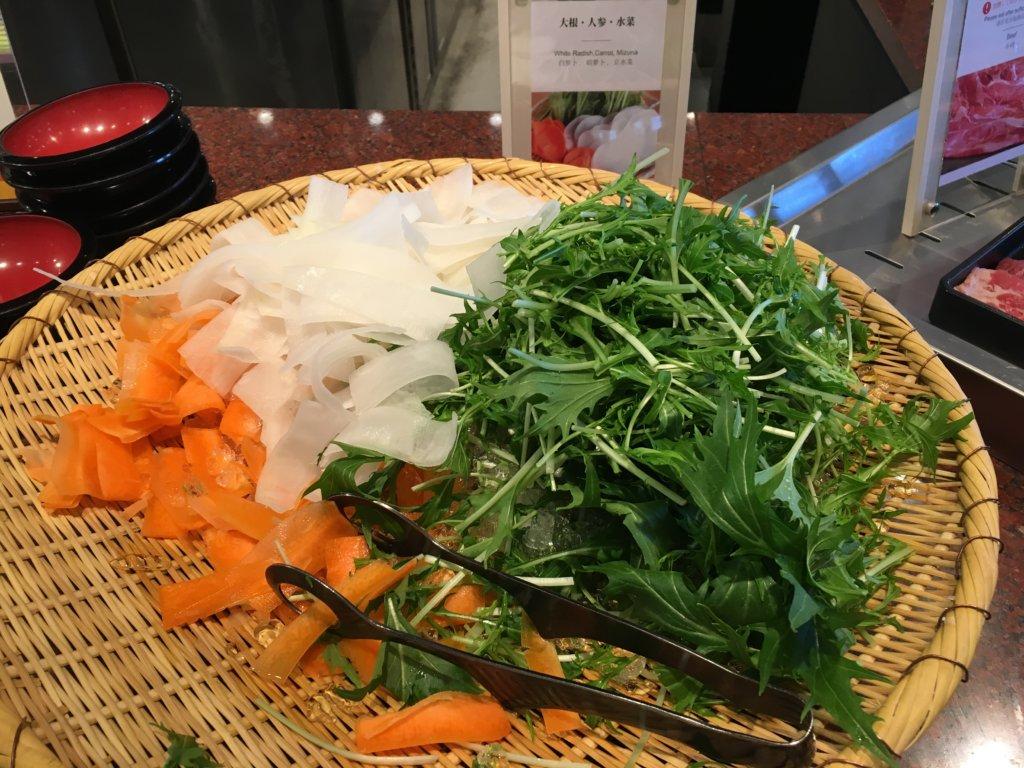 ホテルユニバーサルポート リコリコのしゃぶしゃぶ野菜