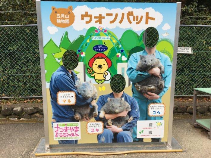 五月山動物園動物の顔はめパネル