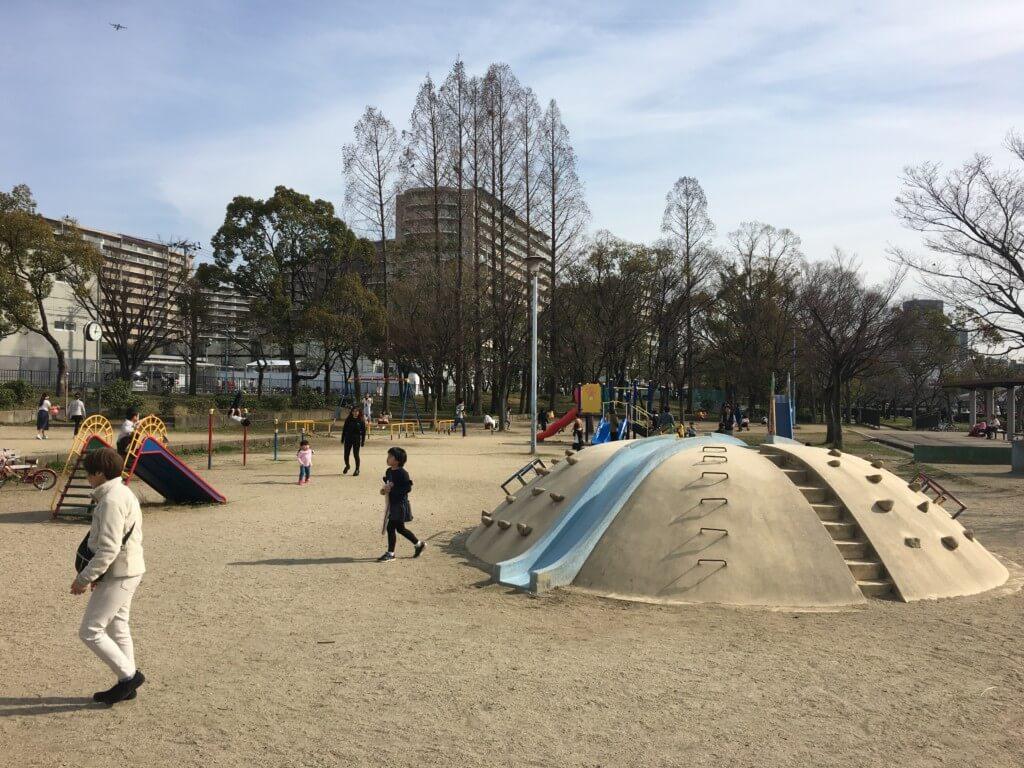 毛馬桜ノ宮公園、児童遊技場の遊具
