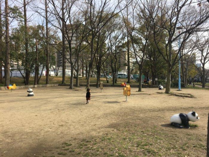 毛馬桜ノ宮公園、児童遊技場の遊具動物の乗り物