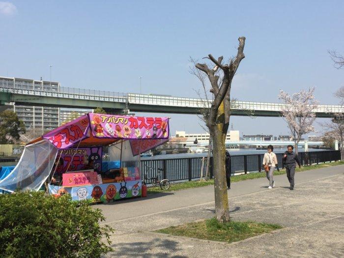 毛馬桜ノ宮公園、児童遊技場の屋台