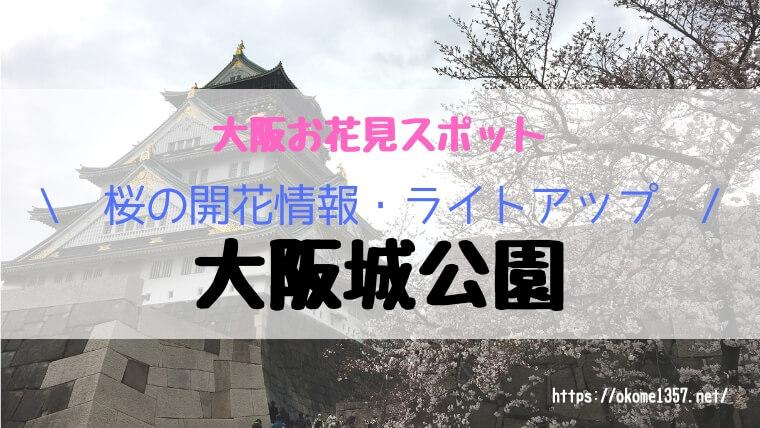 大阪城公園お花見アイキャッチ