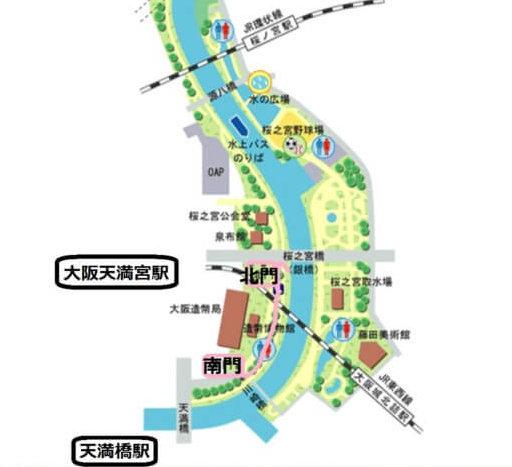 造幣局桜の通り抜けアクセス(最寄り駅)