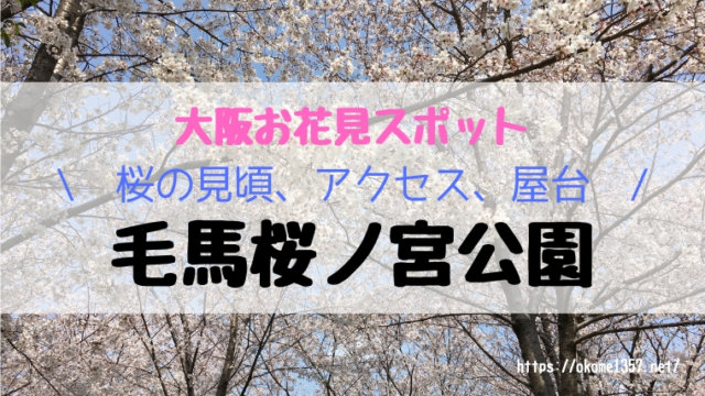 毛馬桜ノ宮公園お花見アイキャッチ