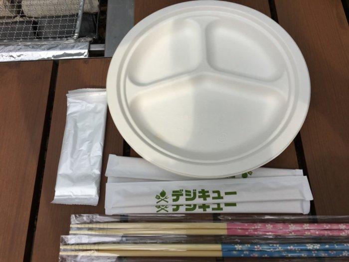 大阪城バーベキュー(和ーべきゅう)料金に含まれている物品