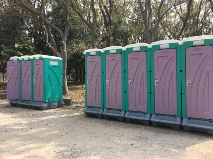 大阪城バーベキュー(和ーべきゅう)仮設トイレ