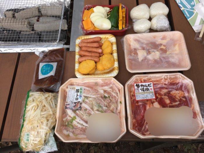 大阪城バーベキュー(和ーべきゅう)、家族4人(夫婦+乳幼児2人)で用意した食材