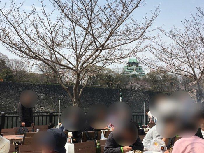 大阪城バーベキュー(和ーべきゅう)お堀横エリア