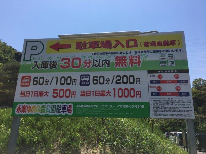 永楽ゆめの森公園駐車場料金