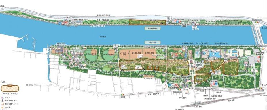 浜寺公園マップ
