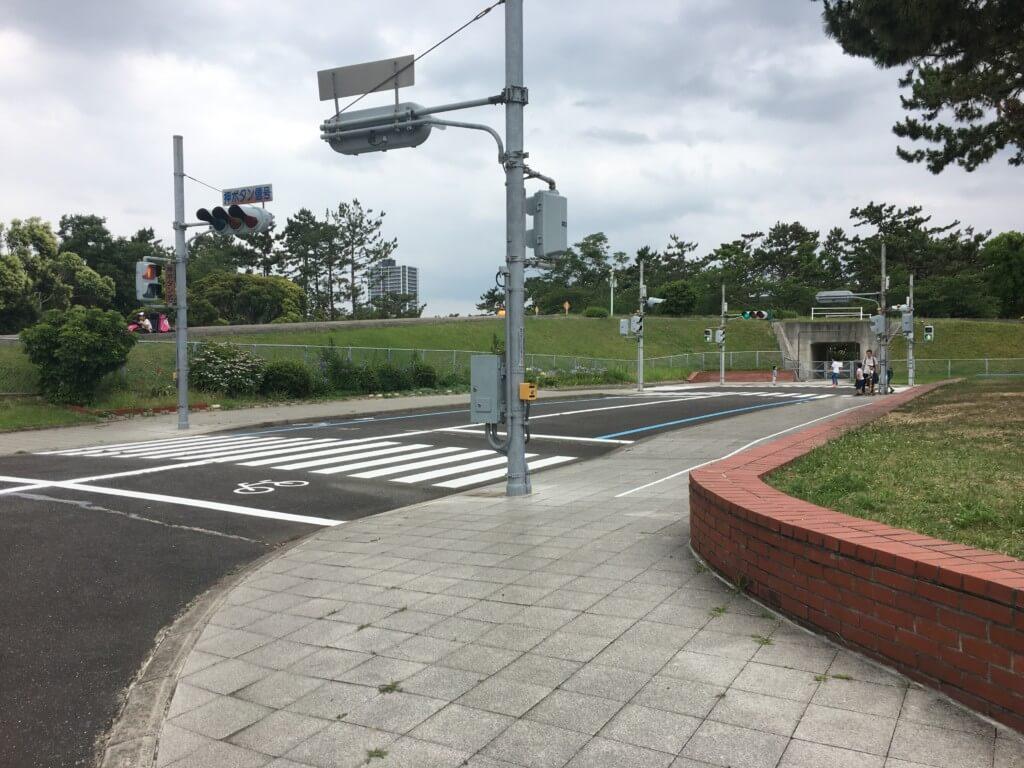 浜寺公園 交通遊園の体験用道路