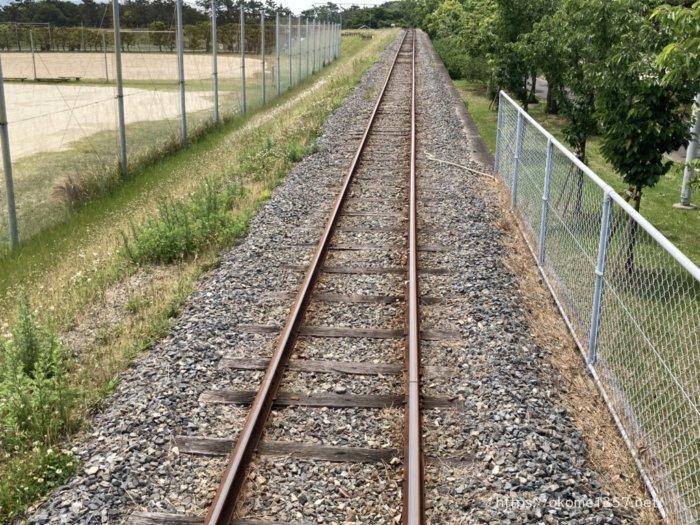 浜寺公園交通遊園の汽車から見える線路