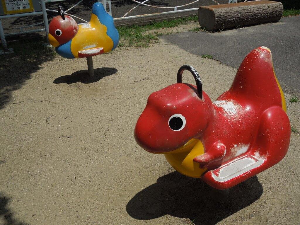 新幹線公園 恐竜の乗り物