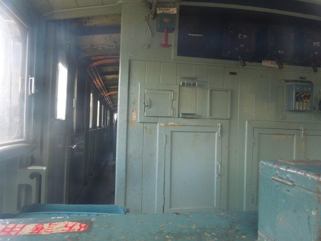 新幹線公園 電気機関車の車内