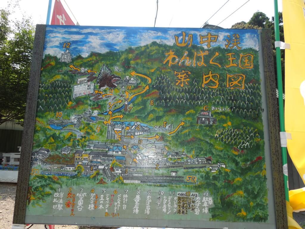 わんぱく王国阪南市のマップ