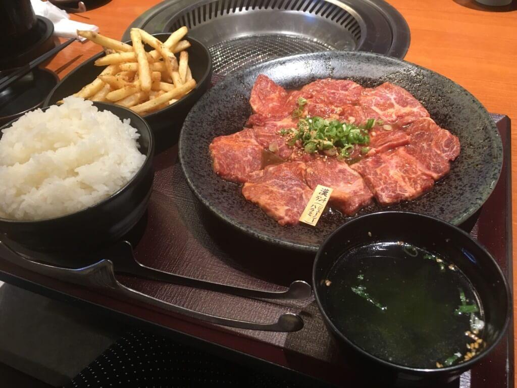 焼肉特急岸和田店のランチメニュー漢ランチ(ジューシーハラミ)