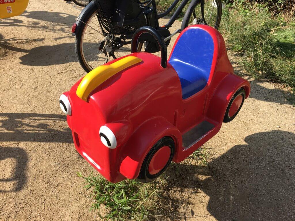 扇町公園の遊具車の乗り物