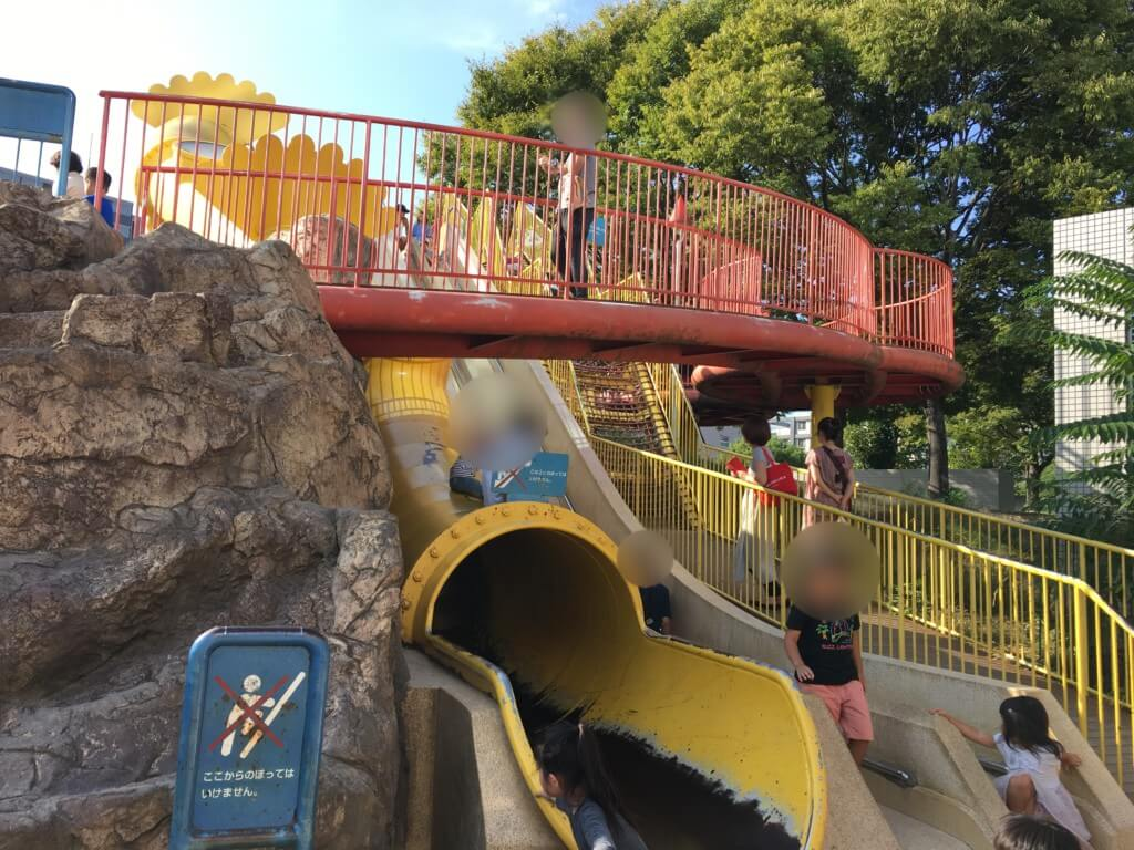 扇町公園の遊具すべり台