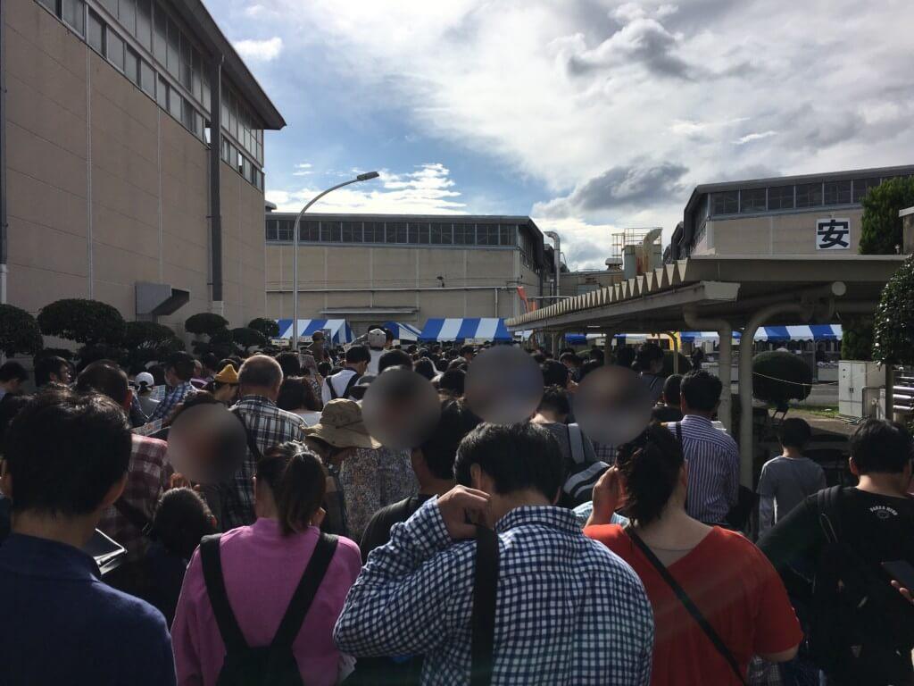 京阪ファミリーレールフェア2019開場前の混雑状況