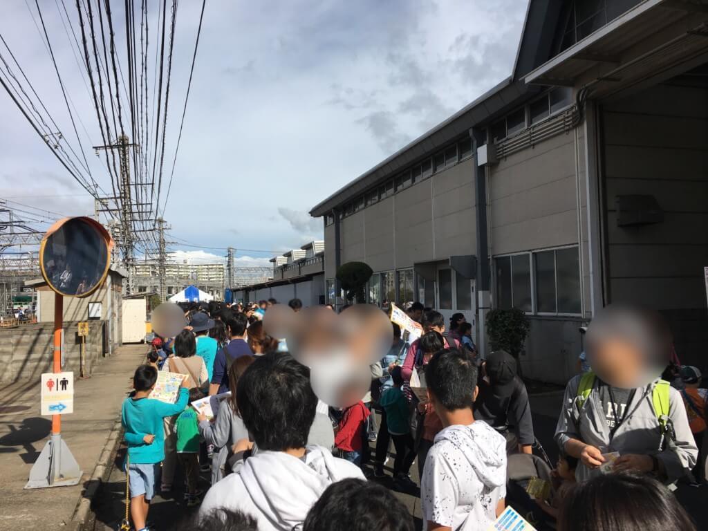 京阪ファミリーレールフェア2019整理券待ちの行列