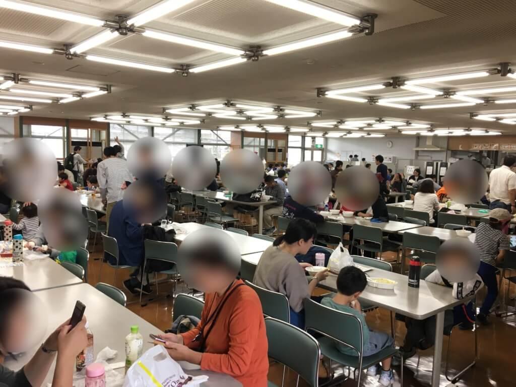 京阪ファミリーレールフェア2019の食堂