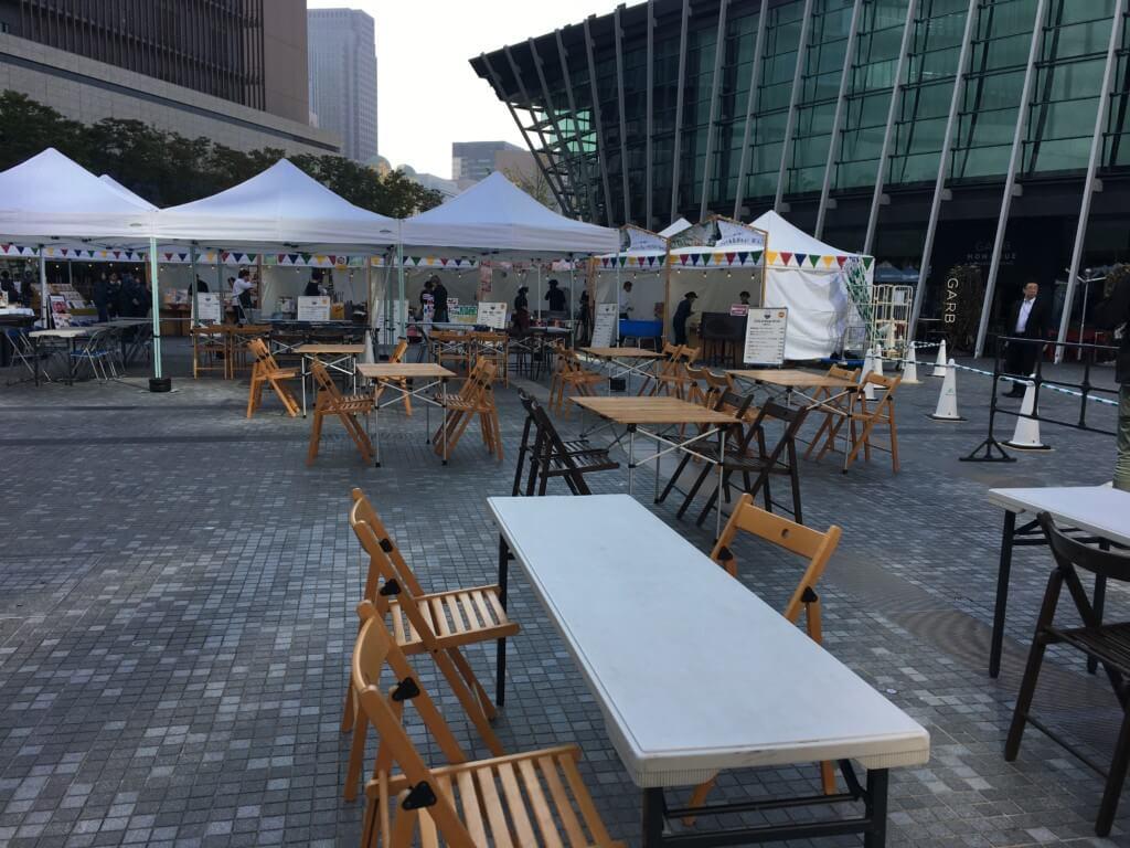 おこめまつり2019うめきた広場の飲食スペース