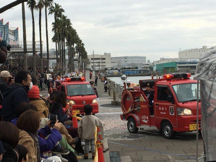 大阪市消防出初式の消防車両