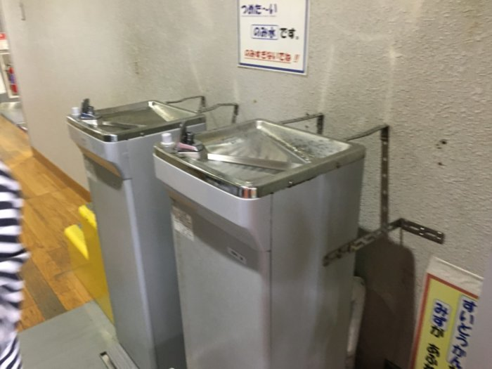 ドリーム21のびのび広場の冷水器