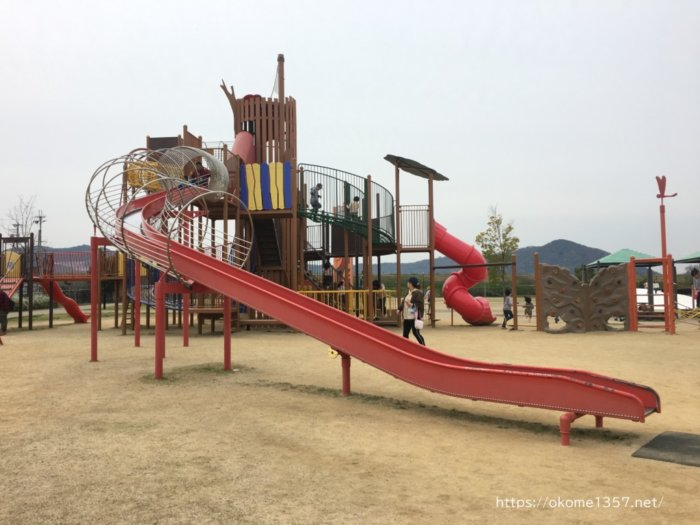 さぎのせ公園@岩出市の大きい子供向け遊具