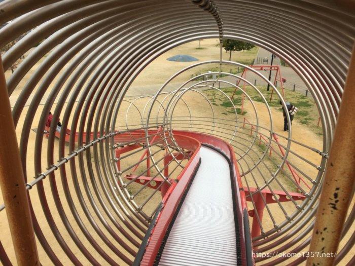 さぎのせ公園@岩出市の遊具ローラーすべり台