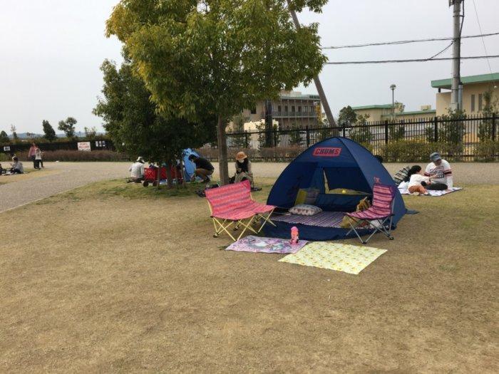 さぎのせ公園@岩出市の芝生