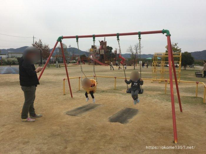 さぎのせ公園@岩出市のブランコ