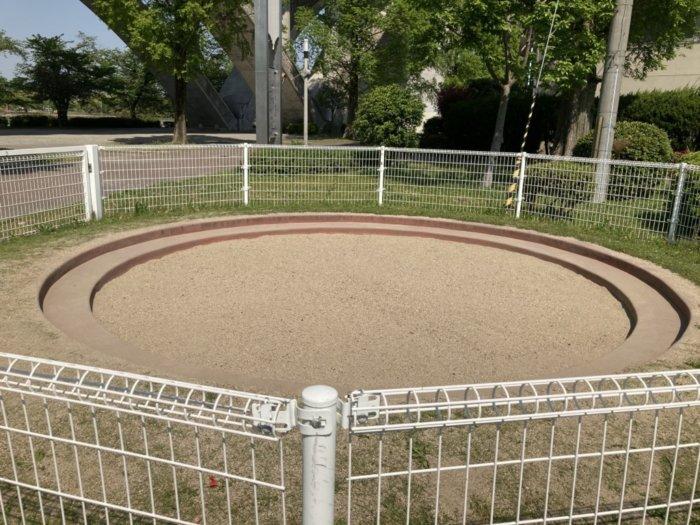 城北公園の砂場