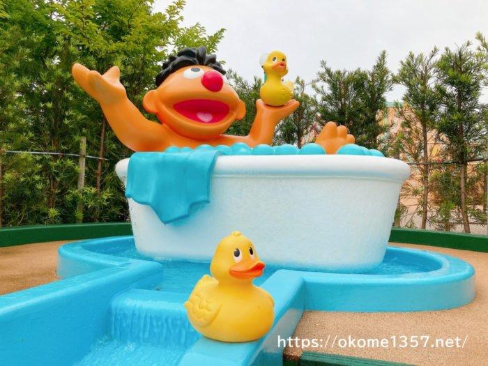 USJ(ユニバ)のアヒルで水遊び