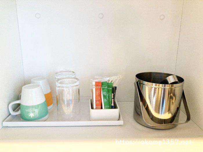 ホテルユニバーサルポートは居室にお茶とコーヒー